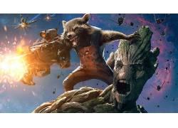 银河护卫队,电影,火箭浣熊,克里斯托弗Balaskas,惊奇的电影宇宙11