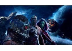 银河护卫队,银河监护人卷。 2,电影,格鲁特,Drax驱逐舰,星主,火箭