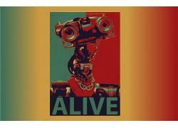 短路,约翰尼5,机器人,生活,艺术品,概念艺术,科幻小说,电影,电视3