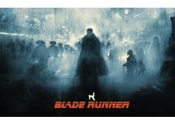 银翼杀手,数字艺术,科幻小说,电影,哈里森福特,艺术品,瑞克戴克德