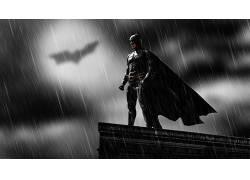 蝙蝠侠,屋顶,雨,Bat信号,MessenjahMatt,人,电影,黑暗骑士56615