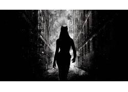 电影,黑暗骑士崛起,猫女,安妮・海瑟薇,蝙蝠侠,高谭市,轮廓52053