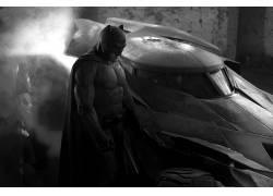 蝙蝠侠,蝙蝠侠与超人:正义的黎明,蝙蝠车,DC漫画,单色,电影,本阿