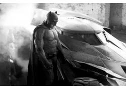蝙蝠侠,蝙蝠侠与超人:正义的黎明,蝙蝠车,电影,本阿弗莱克,单色4
