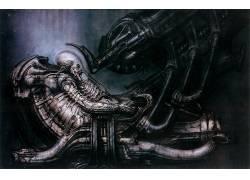 科幻小说,外星人,艺术品,机,外星人(电影),普罗米修斯(电影),