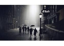 雨,晚,雨伞,酒吧,毁灭之路,电影72959