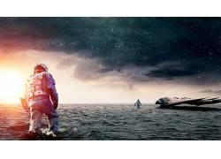 空间,星际(电影),电影,宇航员,飞船,望着远方147474