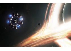 空间,飞船,行星,明星,艺术品,科幻小说,星际(电影),耐力475768