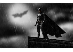 蝙蝠侠,超级英雄,雨,DC漫画,漫画,黑暗,岬,电影249499