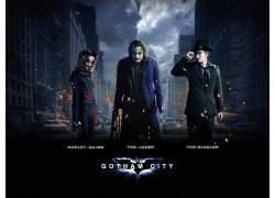 蝙蝠侠,高谭市,滑稽角色,市,电影,希斯莱杰,大卫坦纳特,哈雷奎恩,