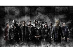蝙蝠侠,黑暗,警察,雨,猫女,catsuits,眼镜,诛戮,黑暗骑士崛起,稻