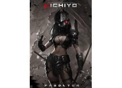 雾XG,妇女,画画,剑,黑发,捕食者(电影)631802