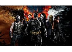 蝙蝠侠,黑暗骑士,黑暗骑士崛起,诛戮,滑稽角色,Ras al Ghul,双面