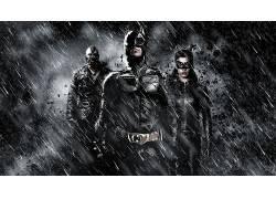 蝙蝠侠,黑暗骑士崛起,诛戮,猫女,MessenjahMatt,Selina凯尔,雨,单