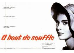 电影海报,àsou de souffle,让 - 吕克戈达尔,让Seberg,极简主义,