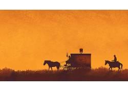 被解放的姜戈,电影,昆汀・塔伦蒂诺,橙子,马,运输,King Schultz博