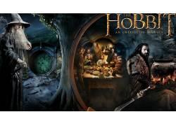 霍比特人:意外旅程,电影,甘道夫,Thorin橡木护盾,比尔博巴金斯,