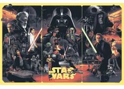 电影海报,星球大战,Leia Organa,达斯维达,卢克・天行者,汉。索罗