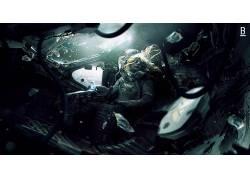 飞船,宇航员,宇航服,死亡,空间,零重力,Weyland-Yutani Corporati