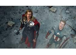 电影,复仇者,雷神,美国队长,抬头看,克里斯赫姆斯沃思,克里斯埃文