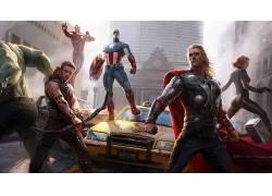 电影,复仇者,雷神,钢铁侠,鹰眼,美国队长,黑寡妇,废船,布鲁斯横幅
