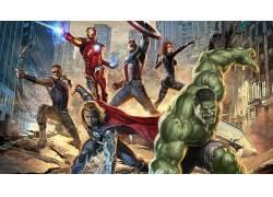 电影,复仇者,鹰眼,废船,黑寡妇,雷神,钢铁侠,美国队长,概念艺术,