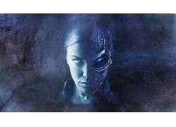 电影,终结者,终结者3:机器的崛起,克里斯汀娜洛肯,数字艺术,半机