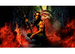 电影,库尔特罗素,逃离纽约,蛇Plissken50439