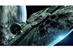 电影,空间,星球大战,千年猎鹰,数字艺术,飞船47403