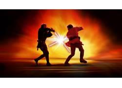 电影,星球大战,阿纳金天行者,欧比旺Kenobi,绝地,西斯,光剑53928