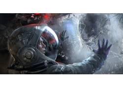 未来,Xenomorph,外星人,艺术品,科幻小说,妇女,外星人(电影)287