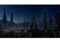 未来,建筑,市容,未来的城市,星球大战,晶,电影,科幻小说53192