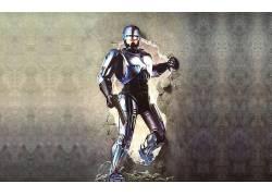 机械战警,半机械人,robocop 2,电影,机,男人,枪,壁5752