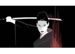 杀死比尔,Lucy Liu,克雷格德雷克,粉丝艺术,画画,电影333499