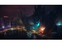 环太平洋,数字艺术,kaiju,电影,Bastien Grivet13570