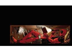 死侍,漫画艺术,电影,死侍,超级英雄,读,电视,纸箱,漫画116569