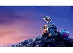 瓦力,皮克斯动画工作室,电影,明星,天空,空间,机器人,WALL-E31235