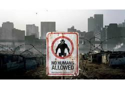 电影,9区,外星人,人,活版印刷,警告标志,铁丝网,建造,标志34316