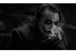 滑稽角色,蝙蝠侠,希斯莱杰,电影,黑暗骑士25170