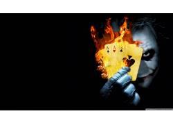 滑稽角色,黑桃王牌,电影,黑暗骑士,牌,手套,面对,火,数字艺术4005