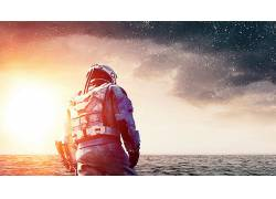 演员,马修・麦康纳,电影,天空,明星,海,波浪,男人,云,星际(电影