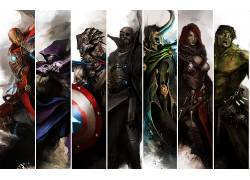 漫威漫画,钢铁侠,鹰眼,美国队长,尼克怒,废船,复仇者,黑寡妇,洛基