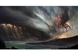 数字艺术,绘画,电影,邪神,生物,DeviantArt的120599