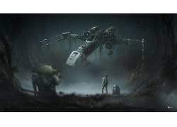 星球大战,星球大战:帝国反击,X翼,尤达,卢克・天行者,电影310777