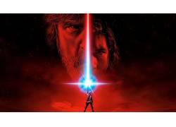 星球大战,星球大战:最后的绝地,卢克・天行者,光剑,电影海报,Kyl