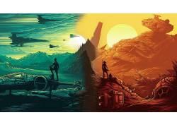 星球大战,电影,星球大战:原力觉醒,数字艺术,雷伊(来自星球大战