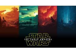星球大战:原力觉醒,电影海报,电影海报,大学,星球大战,梯度,Jakk图片