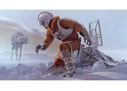 星球大战:第五集 - 帝国反击,电影,AT-AT,艺术品,霍斯6807
