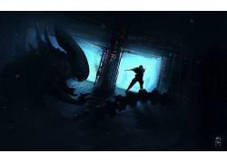 恐怖,科幻小说,Xenomorph,艺术品,外星人(电影)407450
