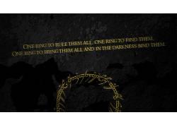 指环王,引用,活版印刷,黑暗的背景,电影50624